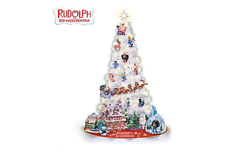 Rudolph Illuminated Christmas Tree Collection with Figurines