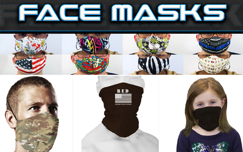 Stylish Face Masks & Face Coverings As Low As $8.99
