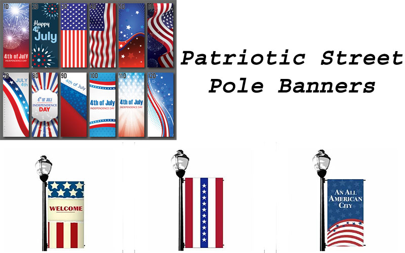 Patriotic Street Pole Banners on Sale Prices