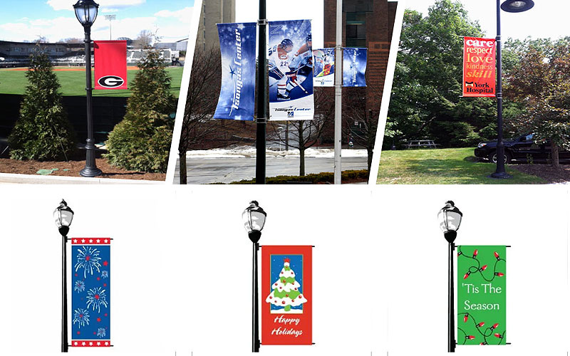Online Seasonal Street Pole Banners Starting from $47.20