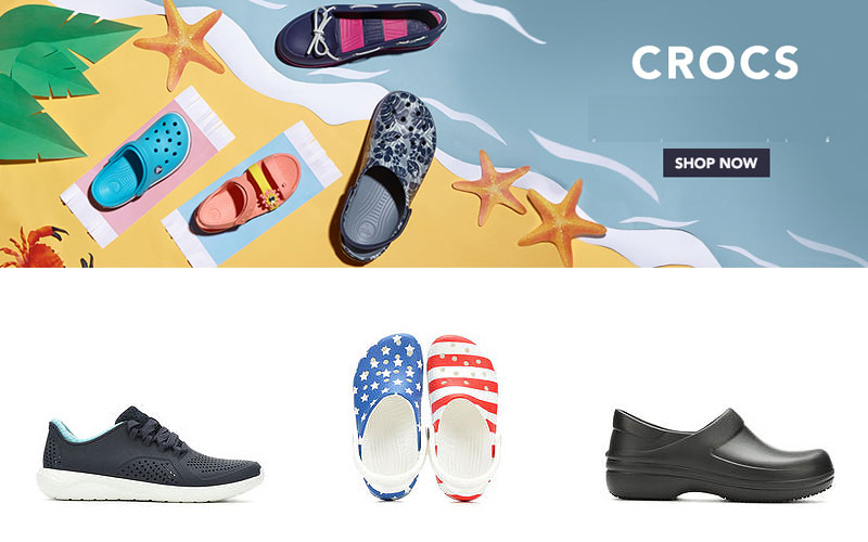 Up to 25% Off on Crocs Footwear