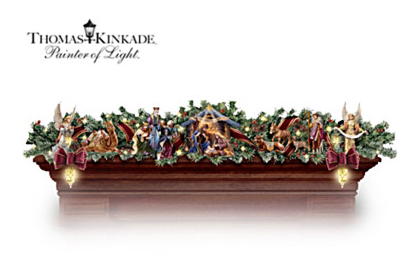 Thomas Kinkade Illuminated Nativity Story Garland