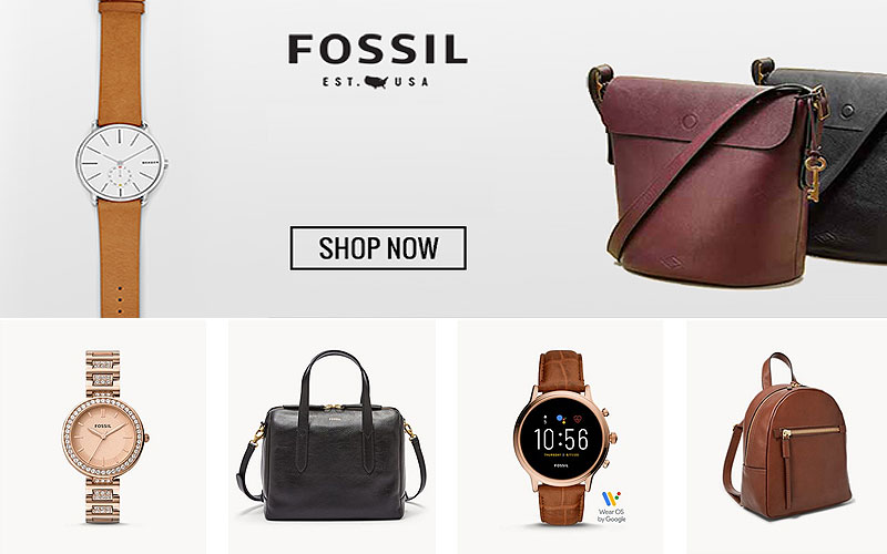 Black Friday! Up to 70% Off on Fossil Watches, Wallets, Handbags & More