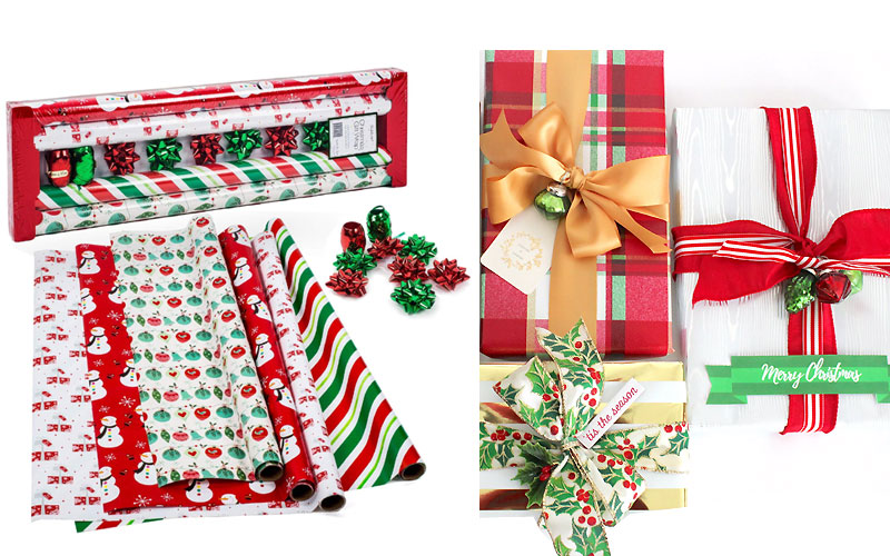 Up to 50% Off on Christmas Gift Wrapping Under $5