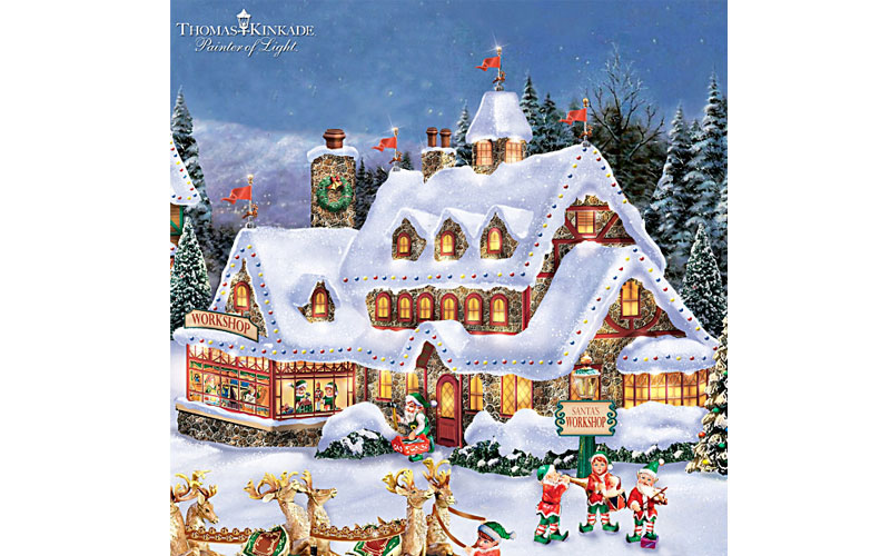 Thomas Kinkade Illuminated North Pole Village Collection
