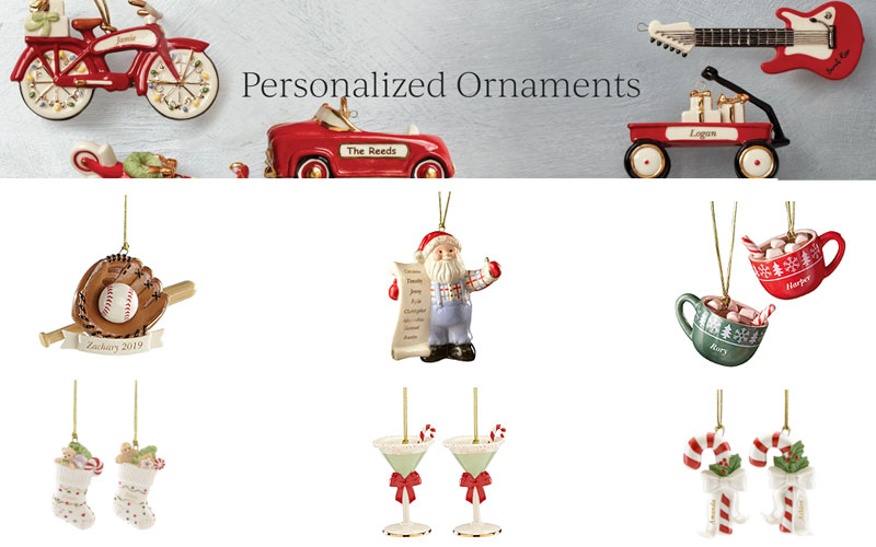 50% Off on Personalized Christmas Ornaments