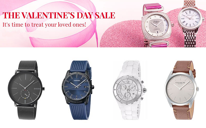 Valentine's Day Sale: Up to 85% Off on Top Brand Watches