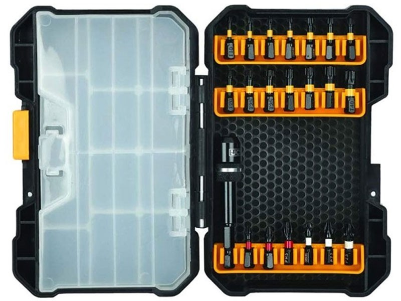 JCB 21-Piece Impact Driver Bit Set with Durable Case