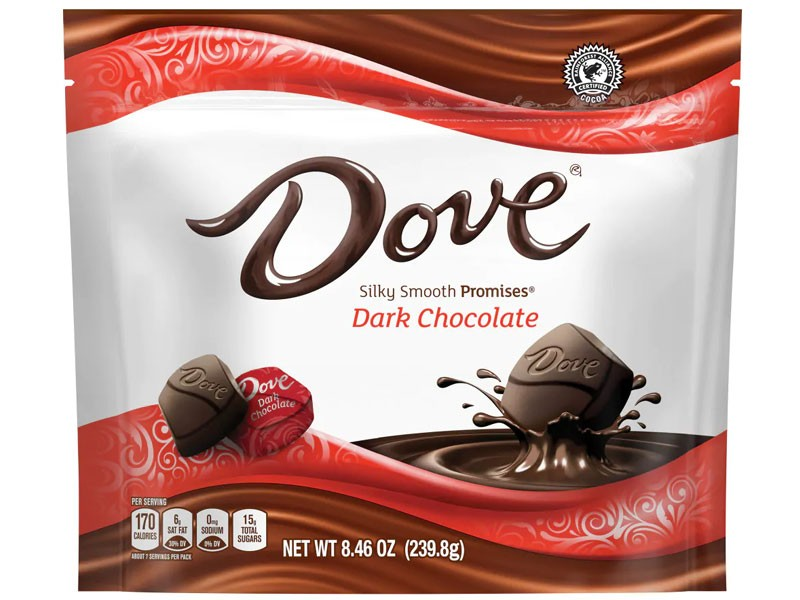 DoveDark Chocolate Candy Bag