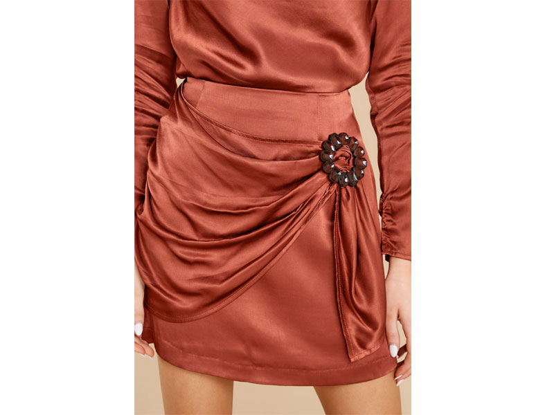 Women's Mallory Terracotta Mini Skirt