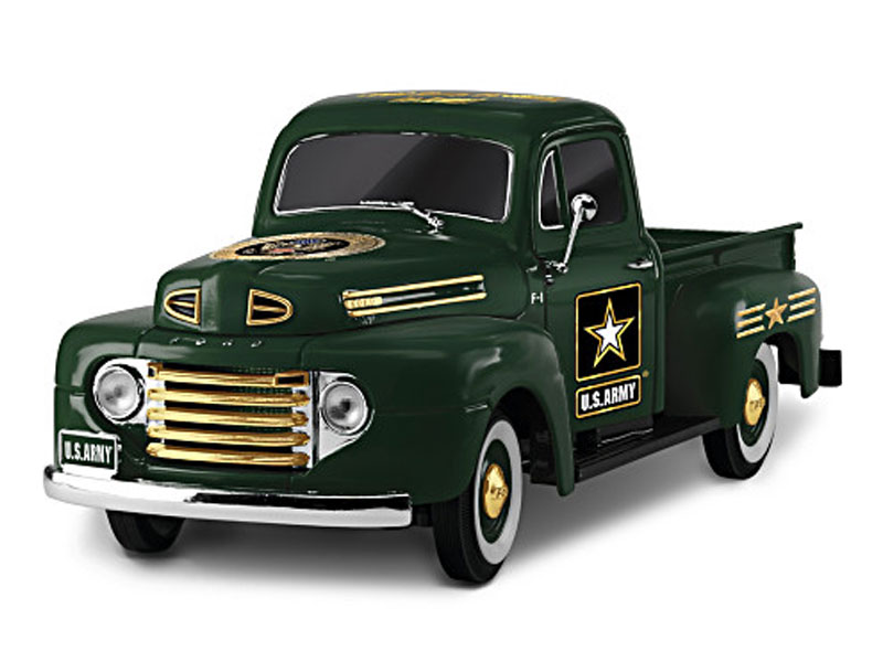 1:36-Scale Class A Cruiser Army Ford Truck Sculpture